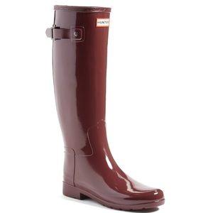 Hunter refined rain boot size 9